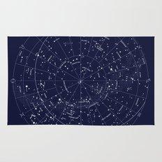 Constellation Map Indigo Rug