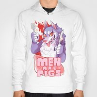 pigs Hoodies featuring men are pigs by Ginseng&Honey