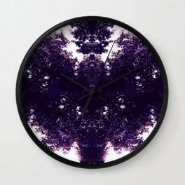 Tiles & Motifs - Purple Dragon Wall Clock