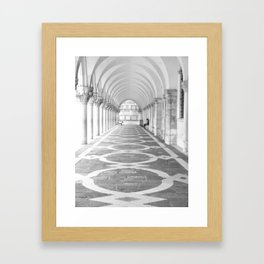 Arcades of the Doges Palace, early morning Framed Art Print