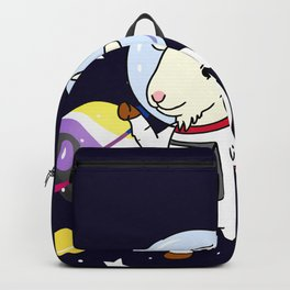 Non-Binary Goat In Space Non-Binary Gift Backpack