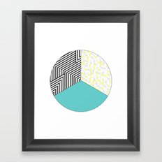 Geometric Circle Framed Art Print