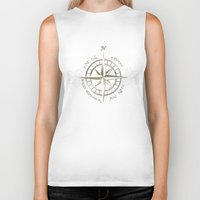 tolkien Biker Tanks featuring Not all those who wander are lost - J.R.R Tolkien by Augustinet