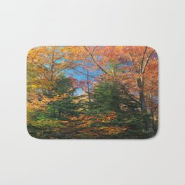 Autumn Forest Photograph Bath Mat