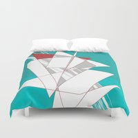 sailing Duvet Covers featuring Sailing by Chuck Buckner