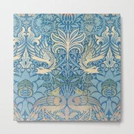 """William Morris """"Peacock and Dragons"""" (1) Metal Print"""