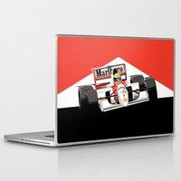 senna Laptop & iPad Skins featuring Ayrton Senna x McLaren by Sean Kane Design