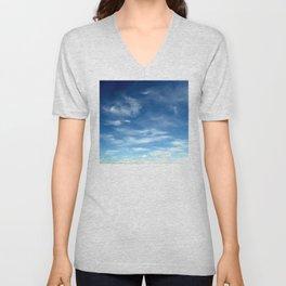 Blue Sky | Clouds | Spiritual | Zen | Nadia Bonello Unisex V-Neck