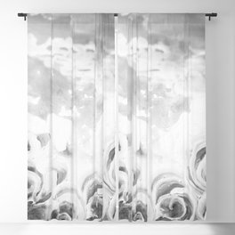 Fading Roses Silver Lining Blackout Curtain