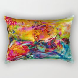 abstract about wine, flowers, party Rectangular Pillow