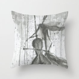 """CELLO. A SERIES OF WORKS """"MUSIC OF THE RAIN"""" Throw Pillow"""