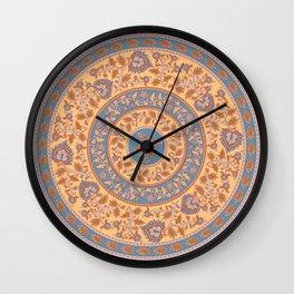 Indian style. Kalamkari. Wall Clock