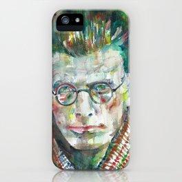 SAMUEL BECKETT watercolor portrait.5 iPhone Case