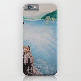 Oakridge Reservoir #4 watercolor painting iPhone Case