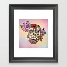 Sweet Sugar Skull Framed Art Print