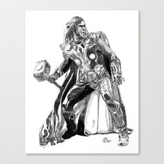 Thor (hand-drawn) Canvas Print