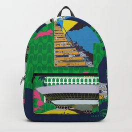 Mews in Rio de Janeiro (Typography) Backpack