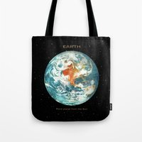 earth Tote Bags featuring Earth by Terry Fan