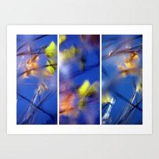 Beyond Blue - Triptych Art Print