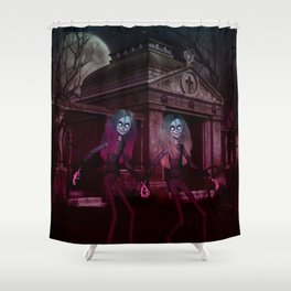 Ghoulish Sisters Shower Curtain
