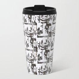 Newsprint Rose Travel Mug