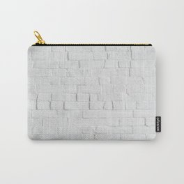 White Brick Wall - Photography Carry-All Pouch