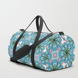 Floral Lattice Duffle Bag
