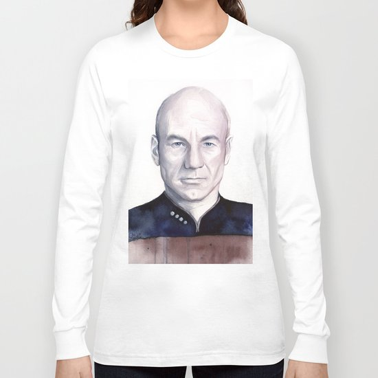 Captain Picard Long Sleeve T-shirt