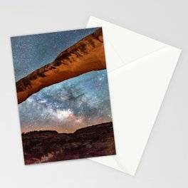 Natural Bridge and the Milky Way in Utah Stationery Cards