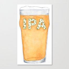 IPA Beer Pint Canvas Print