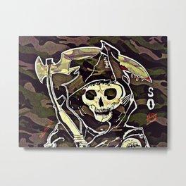 Camo Reaper Metal Print
