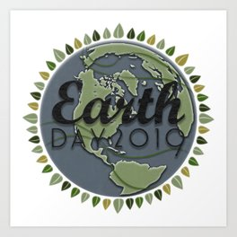 Earth Day 2019 - Textured paper Art Print