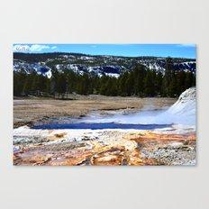 Castle Geyser-Yellowstone Canvas Print