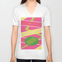 back to the future V-neck T-shirts featuring Back 2 The Future by TheArtGoon