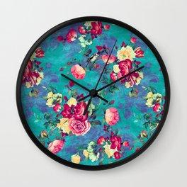 Flowers & Birds II Wall Clock