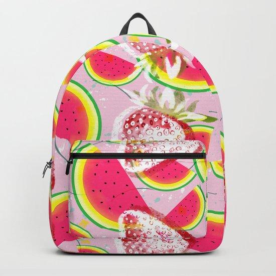 Strawberries Melon Fiesta Pattern Backpack