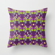 Oppulent Violets pattern Throw Pillow