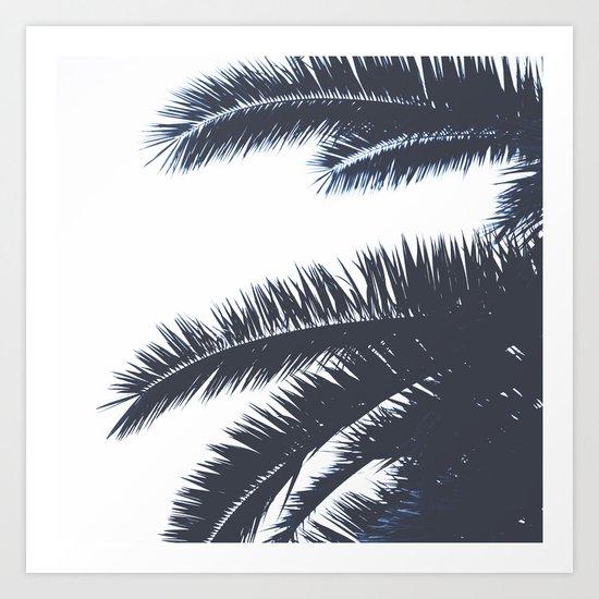 Palm Tree leaves abstract III Art Print