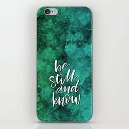 Be Still and Know Watercolor iPhone Skin