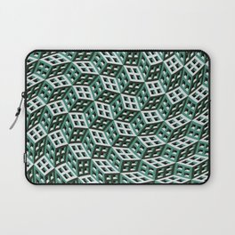 Abstract twisted cubes Laptop Sleeve