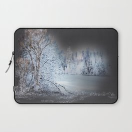 Winter Lake and Trees Laptop Sleeve