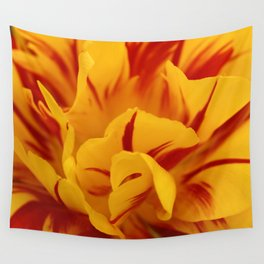 A Chaos of Reds and Yellows: in the Heart of a Triandrus Daffodil Wall Tapestry