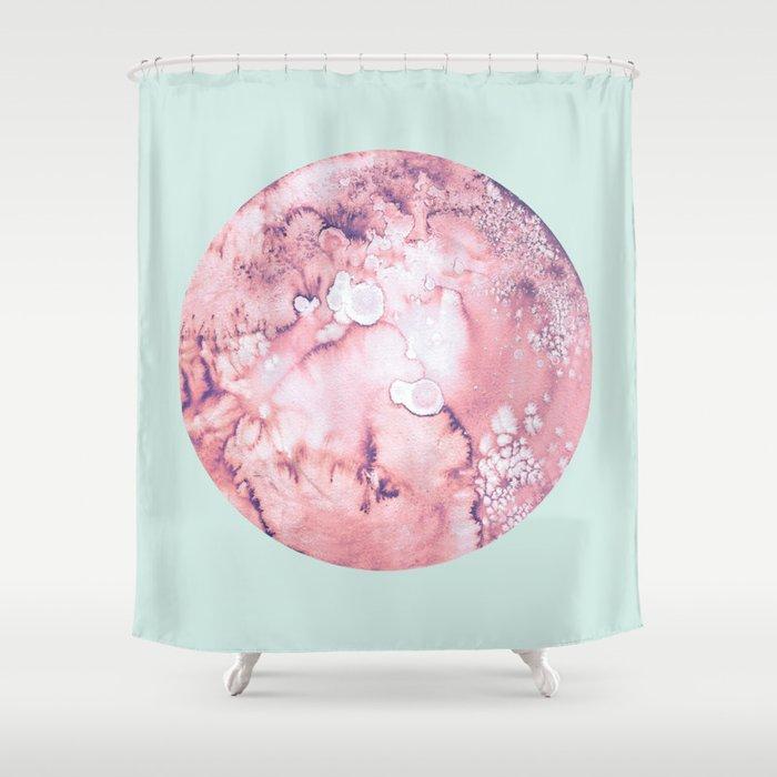 Pluto Mint Shower Curtain