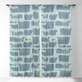 Whales Sheer Curtain