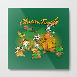 Chosen Family Metal Print