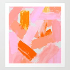 A Vision in Blush Art Print