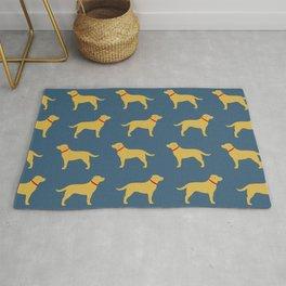 Yellow Labrador Retriever Dog Silhouette Rug