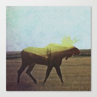 moose Canvas Prints featuring Moose by Andreas Lie