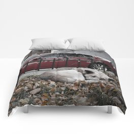 dream city dog Comforters