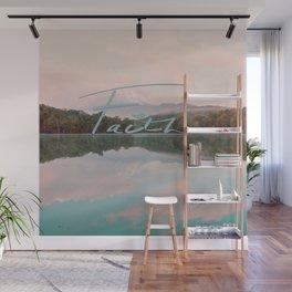 Faith - Smoky Mountains Lake at Dawn Nature Photography Quote Wall Mural